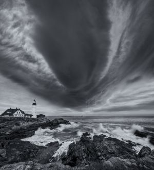 7: Hurricane Sandy, Portland Head Light, Maine