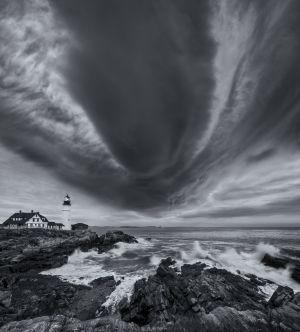 7: Hurricane Sandy, Portland Head Light, Maine