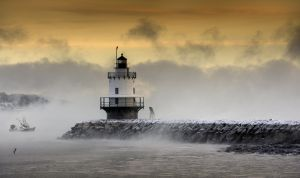 2: Before sunrise at The Spring Point Ledge Lighthouse , South Portland
