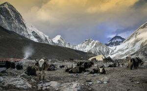 On the way to Everest base camp,Nepal