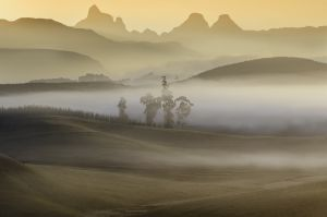 Sunrise over Drakensberg Mountains, South Africa